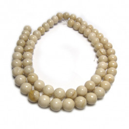 Fossil Stone 6mm Round Beads