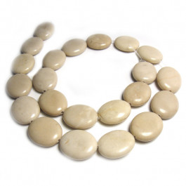 Fossil Stone 15x18mm Oval Beads