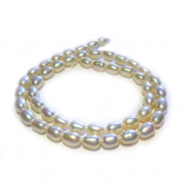 Natural Freshwater Rice Pearl Cream 6-7mm Beads