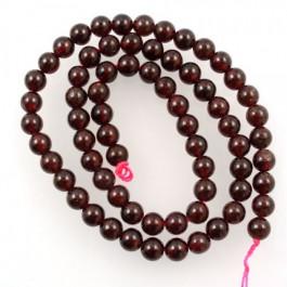 Garnet 7mm Round Beads