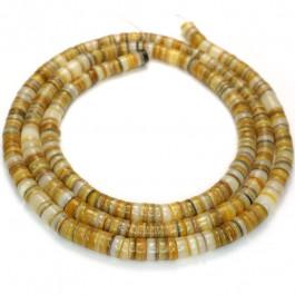 4-5mm Gold Lip Shell Heishi Beads