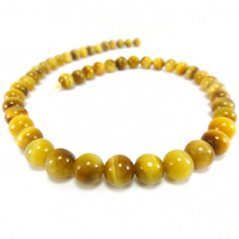 Golden/Yellow Tiger Eye 8mm Round Beads