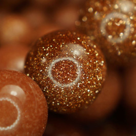 Goldstone 6mm Round Beads
