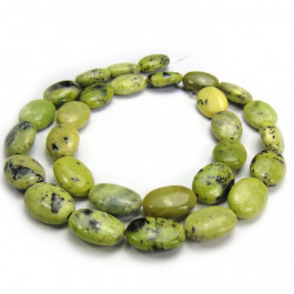 Grass Turquoise 10x14mm Oval Beads