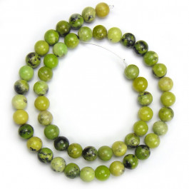 Grass Turquoise 8mm Round Beads