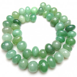 Green Aventurine Centre Drilled Nugget Beads