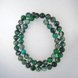 Green Impression Jasper 8mm Round Beads