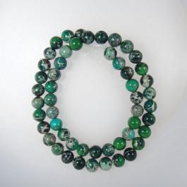 Green Impression Jasper 8mm Round Beads