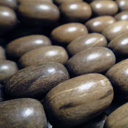 Greywood Oval Wood Beads
