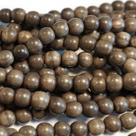 Greywood Round 8mm Wood Beads