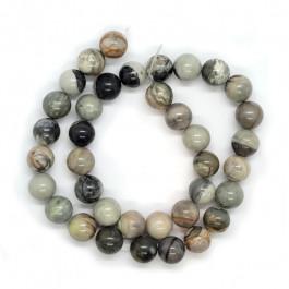 Grey Picasso Jasper 10mm Round Beads