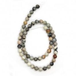 Grey Picasso Jasper 6mm Round Beads