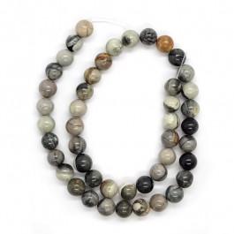 Grey Picasso Jasper 8mm Round Beads