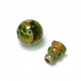 Unakite Guru Bead 10mm