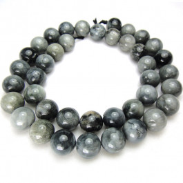 Hawk's Eye 10mm Round Beads