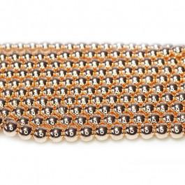 Rose Gold Hematite 4mm Round Beads