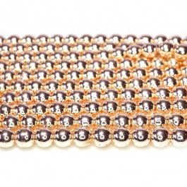 Rose Gold Hematite 6mm Round Beads