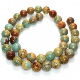 Impression Jasper 10mm Round Beads
