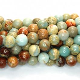 Impression Jasper 8mm Round Beads