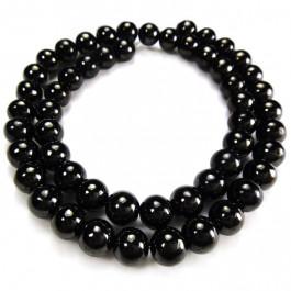 Jet 8mm Round Beads