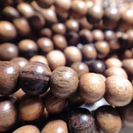 Kamagong (Tiger Ebony) 4mm Round Wood Beads