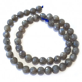 Labradorite 10mm Faceted Round Beads