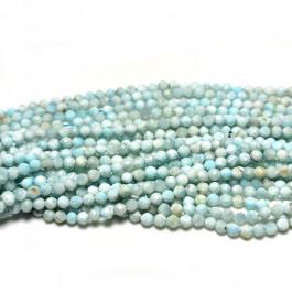Larimar 2mm Faceted Round Beads