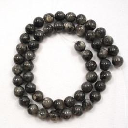 Larvikite 8mm Round Beads
