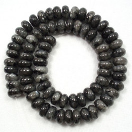 Larvikite 6x10mm Rondelle Beads