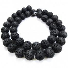 Lava Rock 10mm Round Beads