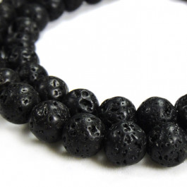 Lava Rock 8mm Round Beads