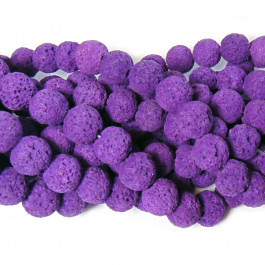 Dyed Purple Lava Rock Beads 10mm