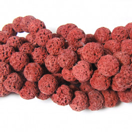 Dyed Rust Red Lava Rock Beads 8mm
