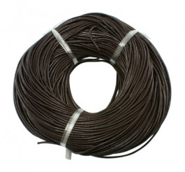 Sienna Brown Cowhide Leather Cord 1.5mm Round 10M Roll