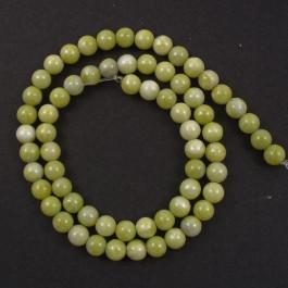 Natural Lemon Jasper 6mm Round Beads
