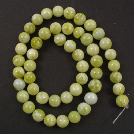 Natural Lemon Jasper 8mm Round Beads