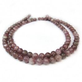 Lepidolite (A Grade) 4mm Round Beads