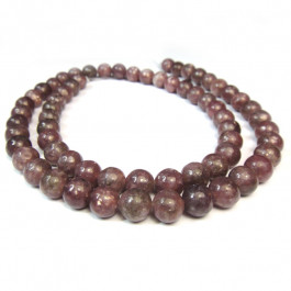 Lepidolite (A Grade) 6mm Round Beads