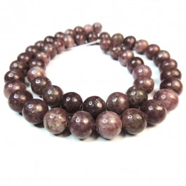 Lepidolite (A Grade) 8mm Round Beads