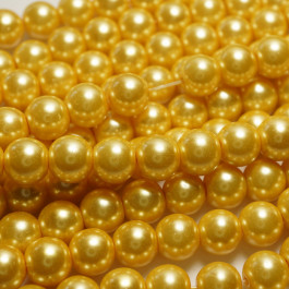 Light Khaki Glass Pearls 10mm Round Beads