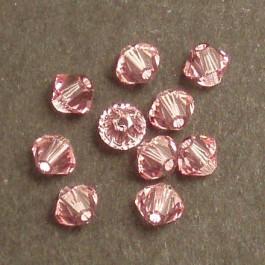 Swarovski® 4mm Light Rose Bicone Xilion Cut Beads (Pack of 10)
