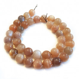 Multicolour Moonstone 10mm Round Beads