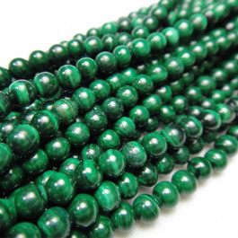 Malachite 4mm Round Beads