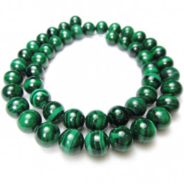 Malachite 8mm Round Beads
