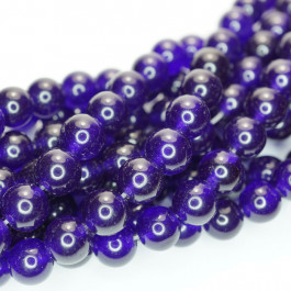 Malay Jade Amethyst 8mm Round Beads