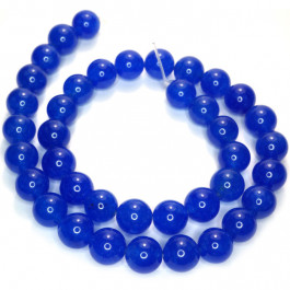 Malay Jade Blue 10mm Round Beads
