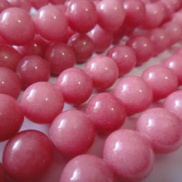 Malay Jade Carnation 10mm Round Beads