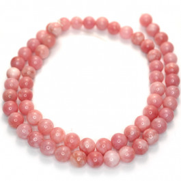 Malay Jade Carnation 6mm Round Beads