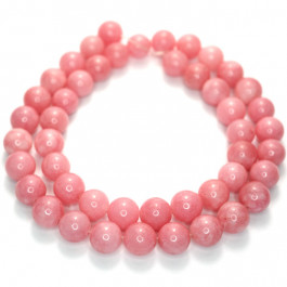 Malay Jade Carnation 8mm Round Beads
