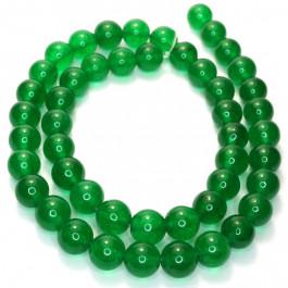Malay Jade Emerald Green 8mm Round Beads